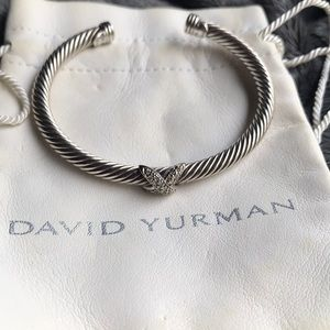 David Yurman 4mm X station bracelet